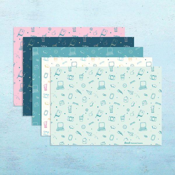 עטיפה למחברת להדפסה – ב-5 עיצובים שונים